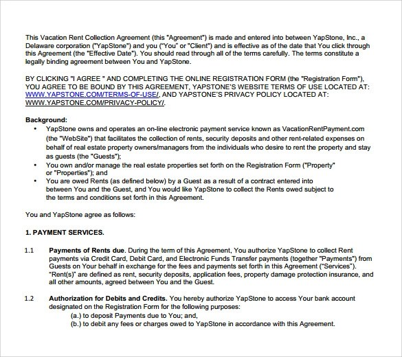 8+ Sample Vacation Rental Agreements - PDF, Word