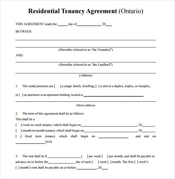 Basic Vacation Rental Agreement  Cv Europass Italiano Online