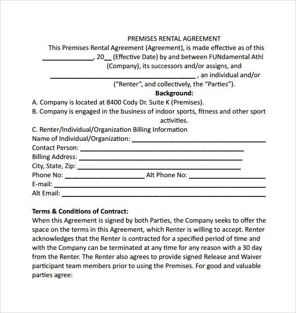 6+ Sample Simple Rental Agreements Sample Templates - simple rental agreements