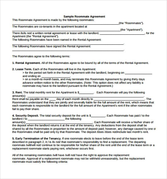 7+ Sample Monthly Rental Agreements Sample Templates