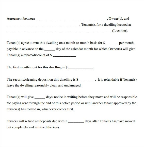 Free Simple Lease Agreement Template land lease agreement – Basic Lease Agreements