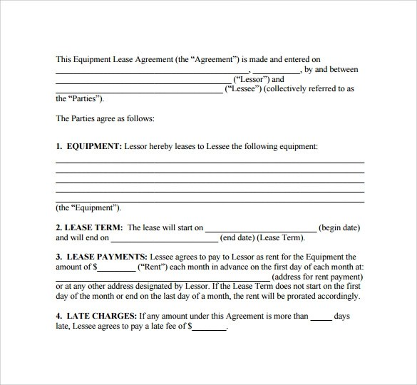 Sample Lease Agreement - 8+ Documents In PDF, Word
