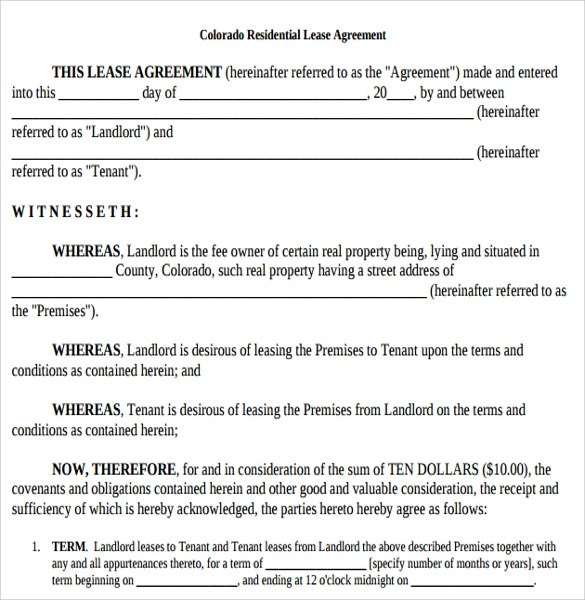 Printable Lease Agreement - 10+ Samples, Examples, \ Format - printable lease agreement sample
