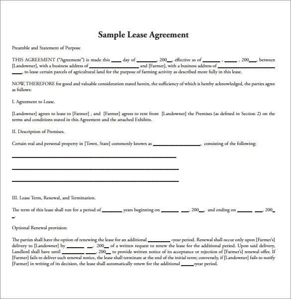 Lease Contract Format  NodeCvresumePaasproviderCom