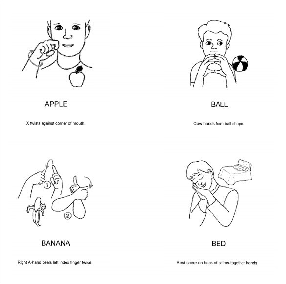 7+ Sample Baby Sign language Charts Sample Templates - baby sign language chart template
