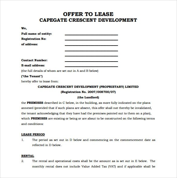 office lease agreement - Eczasolinf