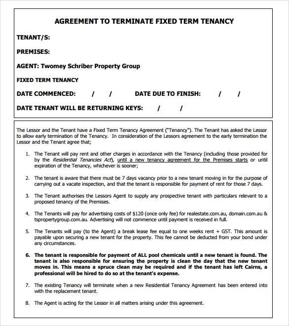lease termination template