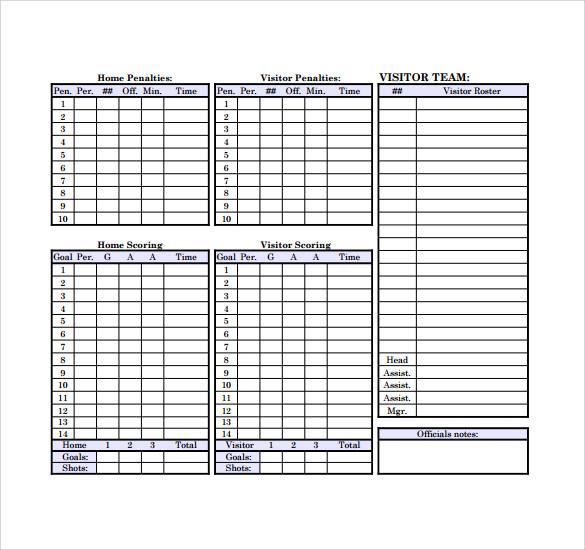 Hockey Scoresheet Related Keywords Suggestions Hockey ~ Hockey Score - hockey score sheet