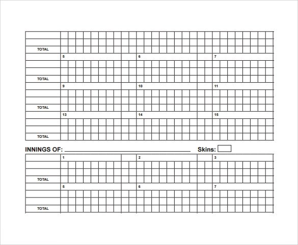 10+ Cricket Score Sheet Samples, Examples, Templates Sample Templates