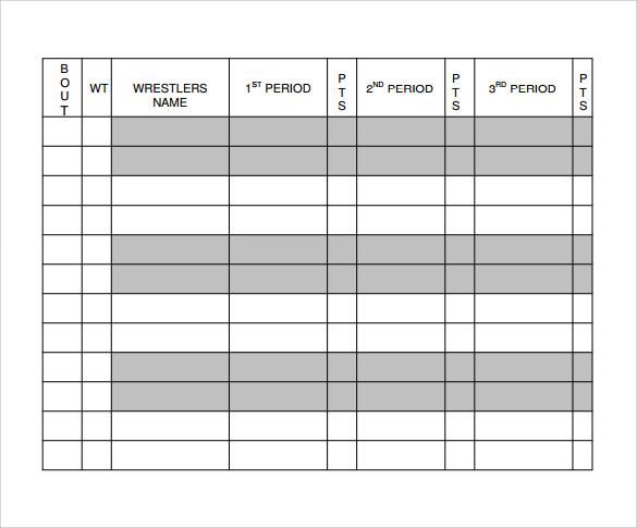 Wrestling Score Sheet Wrestling Piano Theme Sheet Music