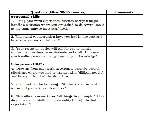 Difficult Situation Examples For Interviews kicksneakers - sample interview score sheet