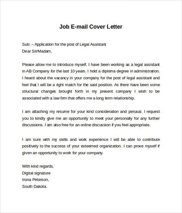 Cover Letters Legal Resume Cover Letter Examples Get Free Sample Cover Letters Email Cover Letter 7 Free Samples Examples And Formats