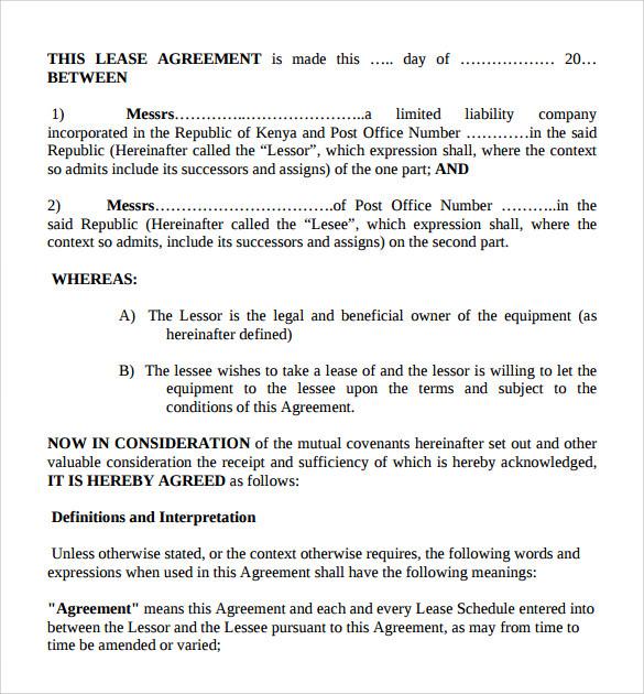 4+ Sample Business Lease Agreements Sample Templates - define rental agreement