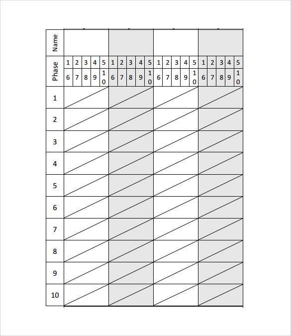 8+ Sample Phase 10 Score Sheet Templates Sample Templates - softball score sheet template