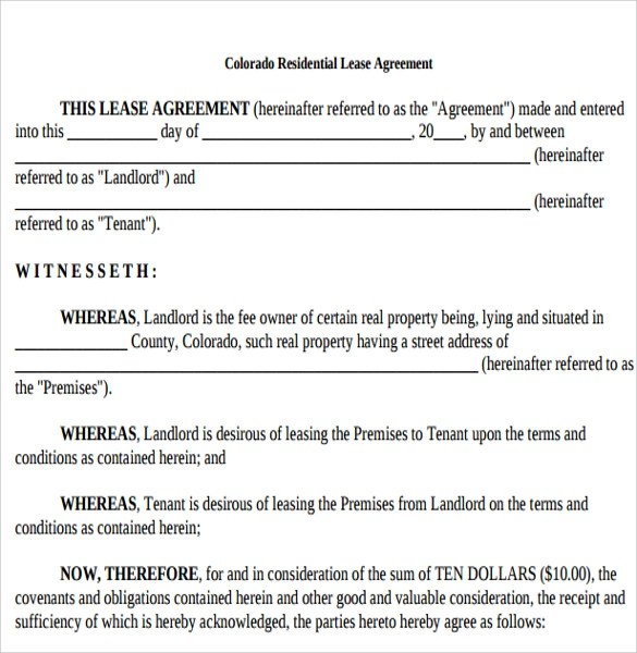 Tenant Lease Agreement Samples , Examples  Format - 6+Download Free