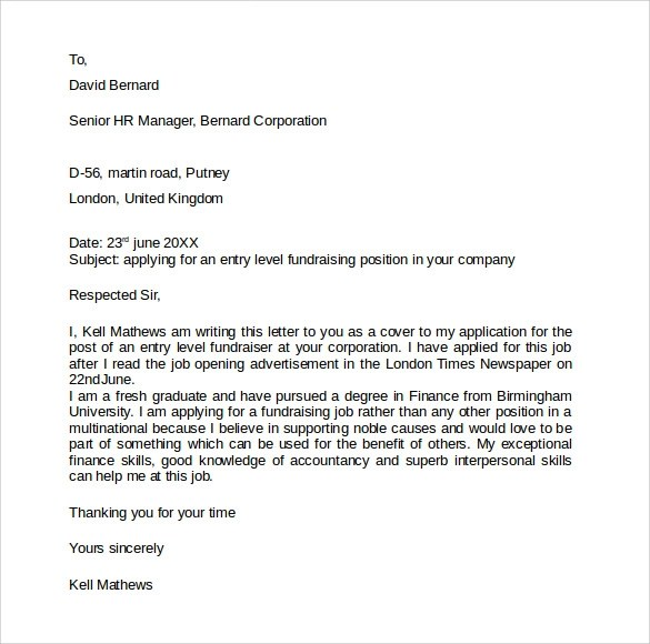 cover letter sample the balance fundraising coordinator cover letter