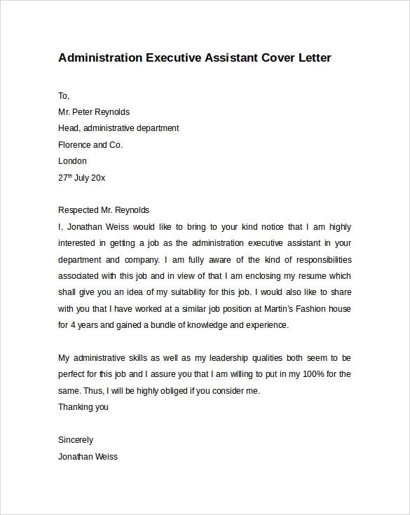 executive level cover letters samples