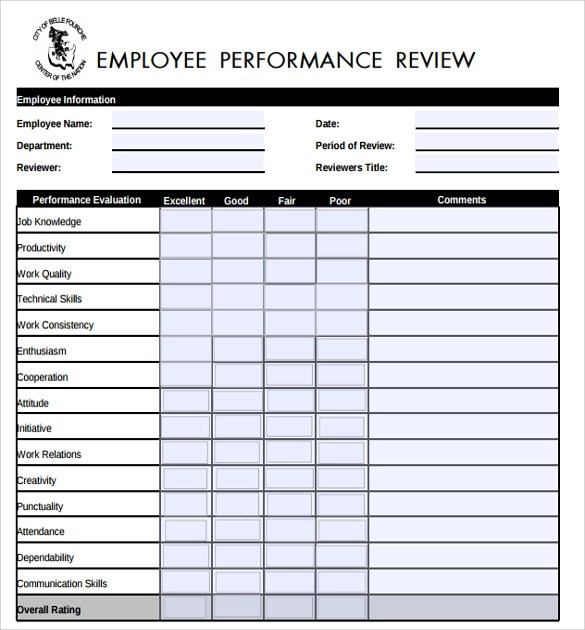 employment performance evaluation - Maggilocustdesign