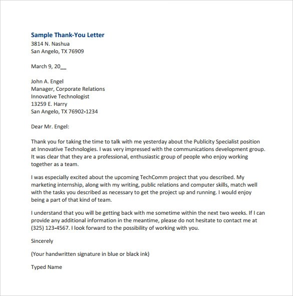 ... Sample Thank You For Your Business Letters U2013 7 Samples , Examples   Business  Thank You ...