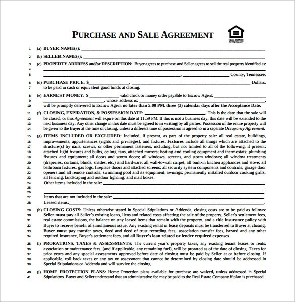 Sample Purchase and Sale Agreement - 12+ Free Documents in PDF, Word - purchase and sales agreement