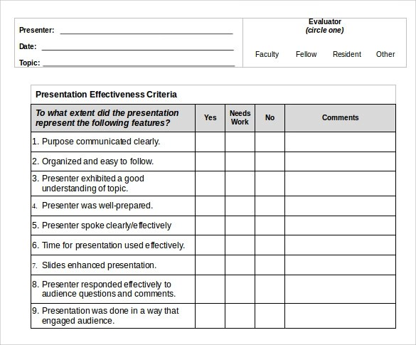 How to create an evaluation form in word