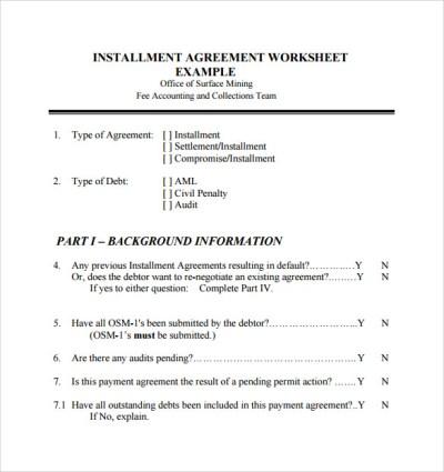 7+ Sample Installment Agreements | Sample Templates