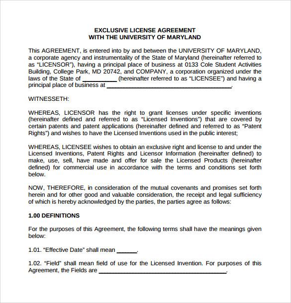 21+ License Agreement Samples - Word, PDF