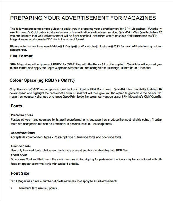newspaper ad templates free download