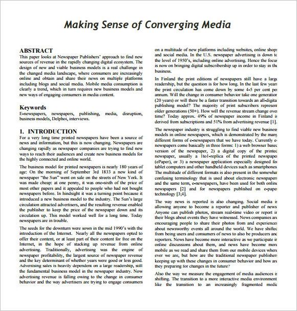 format of newspaper advertisement