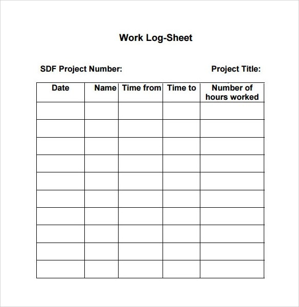 Time Log Templates Activity Log Template Work Log Template - time log sample