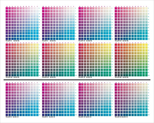 Cmyk Color Chart Cmyk Chart Cmyk Chart Vector Art Graphics - sample cmyk color chart