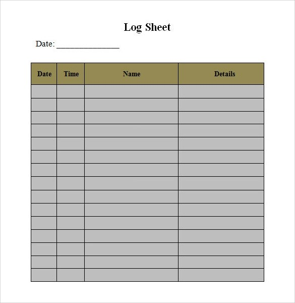 Log In Sheet Template  NodeCvresumePaasproviderCom