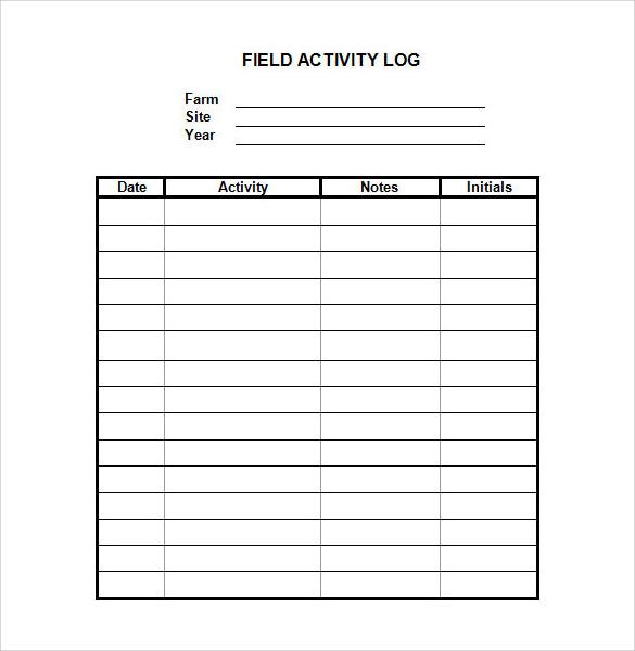 28+ Log Templates Sample Templates - log template