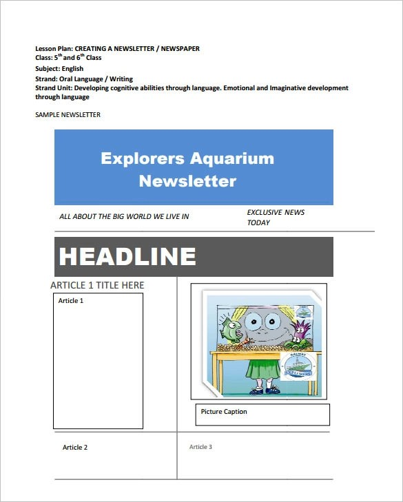 Newspaper Headline Sample - 6+ Documents in PDF, Word