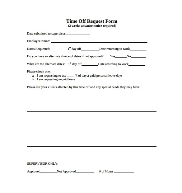 Letter Request Form Vacation Leave Letter Sample Vacation Request - vacation request form