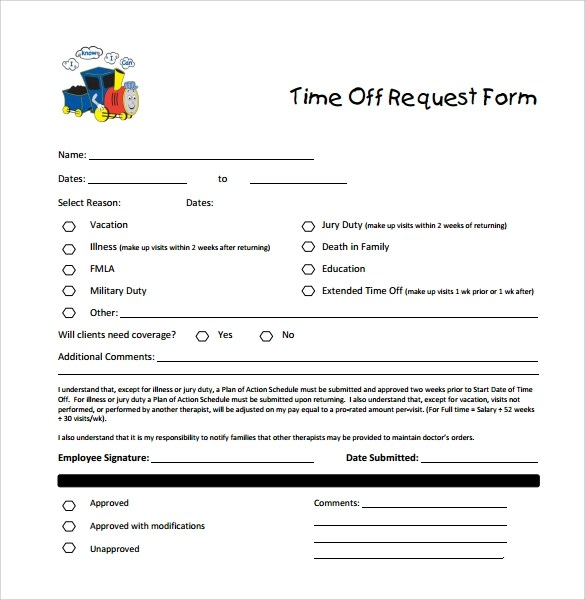 Sample Time Off Request Form - 23+ Download Free Documents in PDF, Word