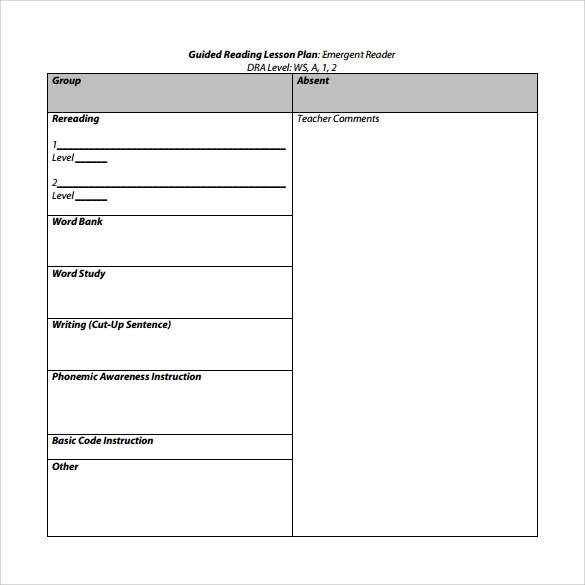 10+ Sample Guided Reading Lesson Plans Sample Templates - Guided Reading Lesson Plan Template