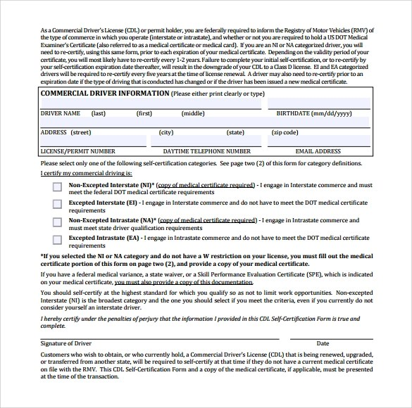 Sample CDL Medical Form Template - 16+ Free Documents in PDF, Word