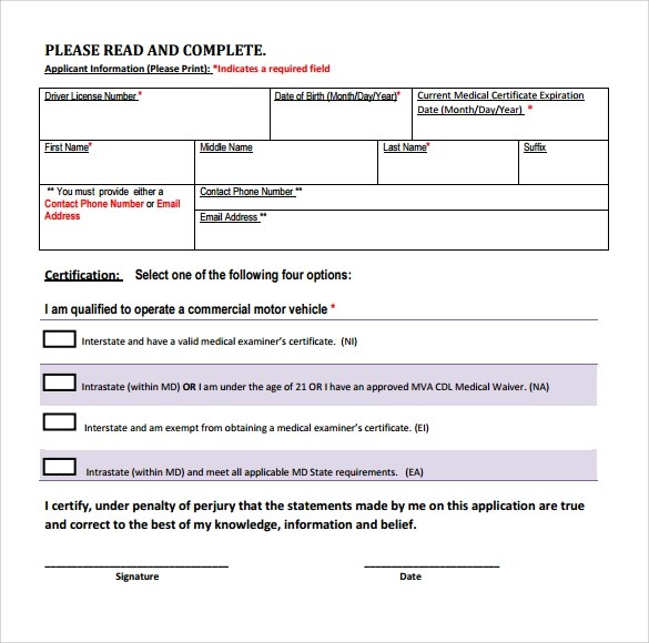 Sample CDL Medical Form Template - 16+ Free Documents in PDF, Word - medical form in pdf
