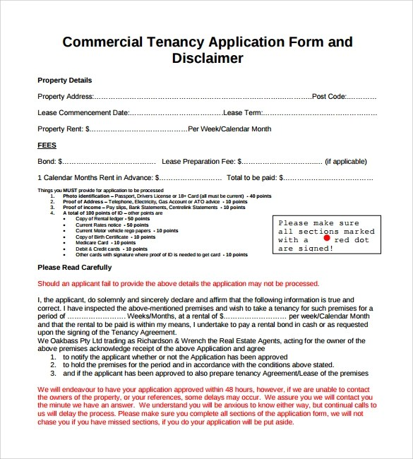 commercial rental application form - Canasbergdorfbib