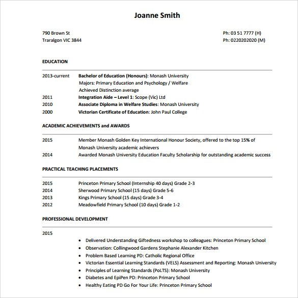 Tutor Resume Sample Sample Tutor Resume Template 7 Free Sample Examples
