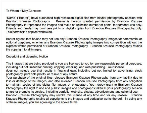 Sample Print Release Form Example  NodeCvresumePaasproviderCom