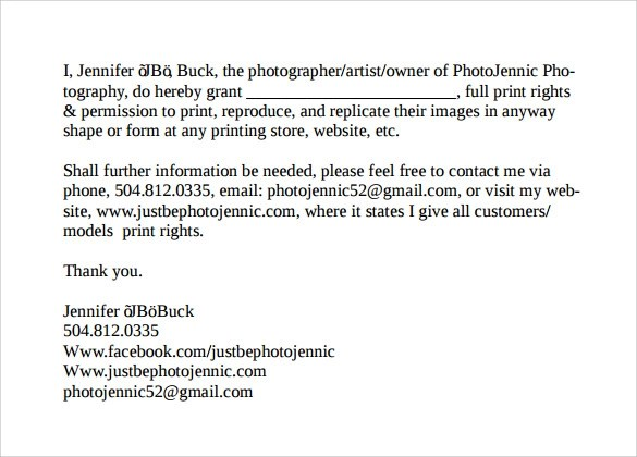 Print Release Form u20138+ Free Samples, Examples \ Formats - print release form