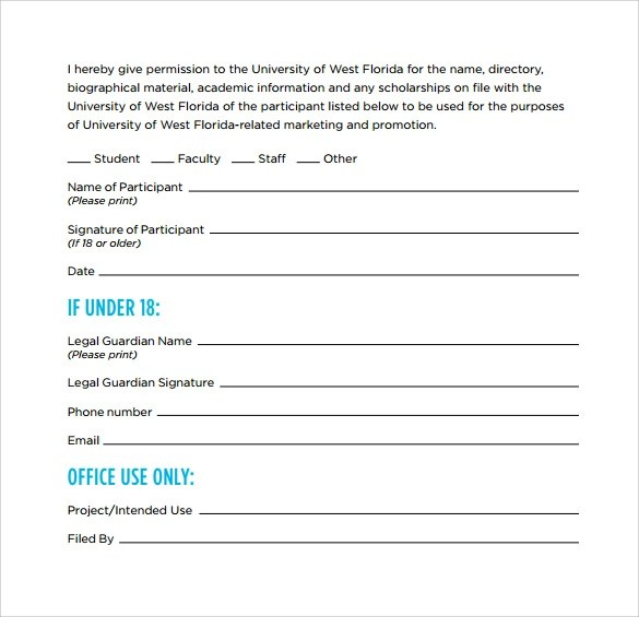 9 Video Release Forms \u2013 Samples , Examples  Format Sample Templates