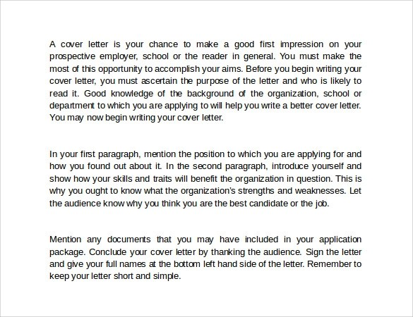How to Write a Cover Letter\u2013 8+ Samples, Examples  Formats