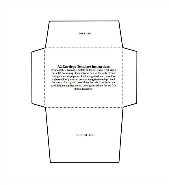 Sample Small Envelope - 8+ Example, Format - sample 5x7 envelope template