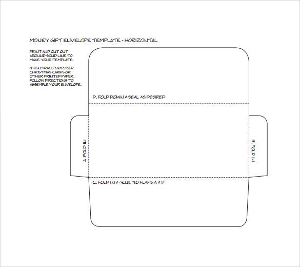 Sample Small Envelope Template printable money envelope templates