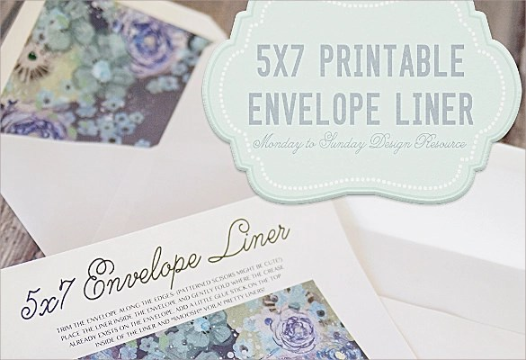 9 Envelope Liner Templates \u2013 Samples ,Examples  Formats Sample
