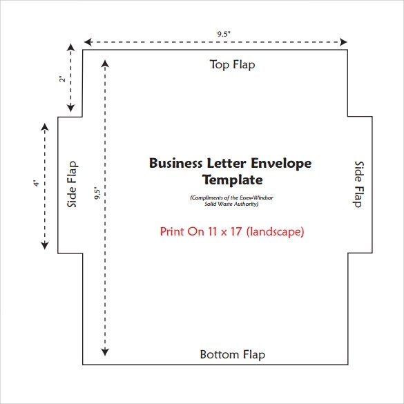11 Letter Envelope Templates \u2013 Samples ,Examples  Formats Sample - Sample 5x7 Envelope Template