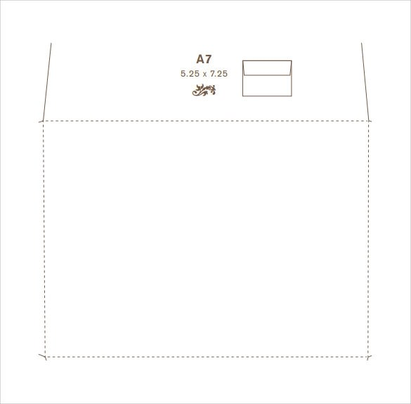 9+ Sample A7 Envelopes Sample Templates - Sample 5x7 Envelope Template